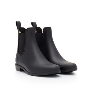 NEW Sam Edelman TINSLEY Rain Boots Matte Black BOX